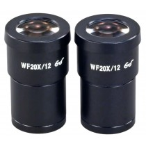 A pair of WF20X/12 Widefield Eyepieces for Microscope 30.0mm