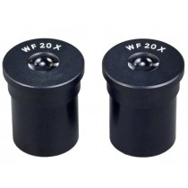 A pair of WF20X Widefield Microscope Optical Eyepiece 23.2mm