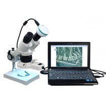 OMAX 20X-40X-80X Binocular Stereo Microscope with Ring Light & USB Camera