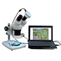 Binocular Stereo Microscope + 54 LED Ring Light & 2MP USB Camera
