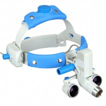 OMAX 2.5X/420mm(16 inches) Headband Binocular Loupes with 5W LED Headlight