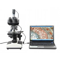 Trinocular Biological Microscope 1600x + USB Camera