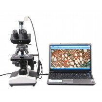Trinocular Biological Microscope 40x~1600x with 3.0MP USB Camera