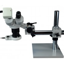 Boom Stand Stereo Microscope Plus 54 LED Light with 1.3MP Camera