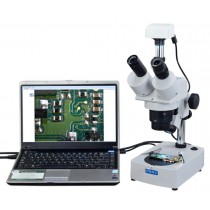 Trinocular Stereo Microscope 10x-20x-30x-60x + 1.3MP USB Camera