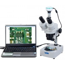 Trinocular Stereo Microscope + 2.0MP USB Camera