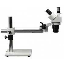 Boom Stand Trinocular Stereo Microscope + 8W Fluorescent Light