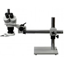 Boom Stand Trinocular Stereo Microscope with 54 LED Ring Light