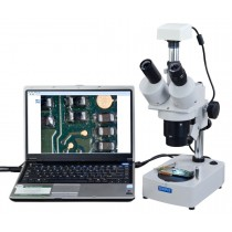 OMAX Digital 20x-40x-80x Table Stand Trinocular Stereo Microscope with 1.3MP USB Camera