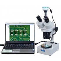 OMAX Digital 20x-40x-80x Table Stand Trinocular Stereo Microscope with 2.0MP USB Camera