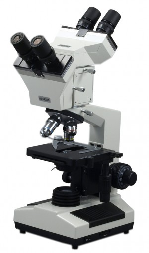 Double Binocular Head Compound Microscope 40x~1000x