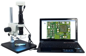 Zoom Inspection Microscope 7x-90x 1.3MP USB Camera 54 LED Lite