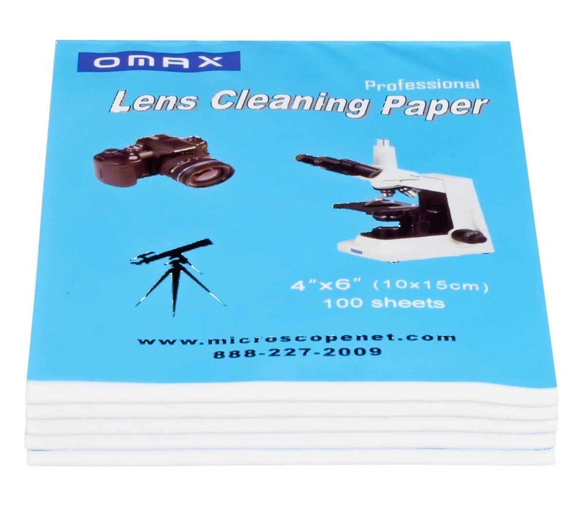 OMAX Microscope /& Camera Lens Cleaning Paper Booklets 500 Sheets