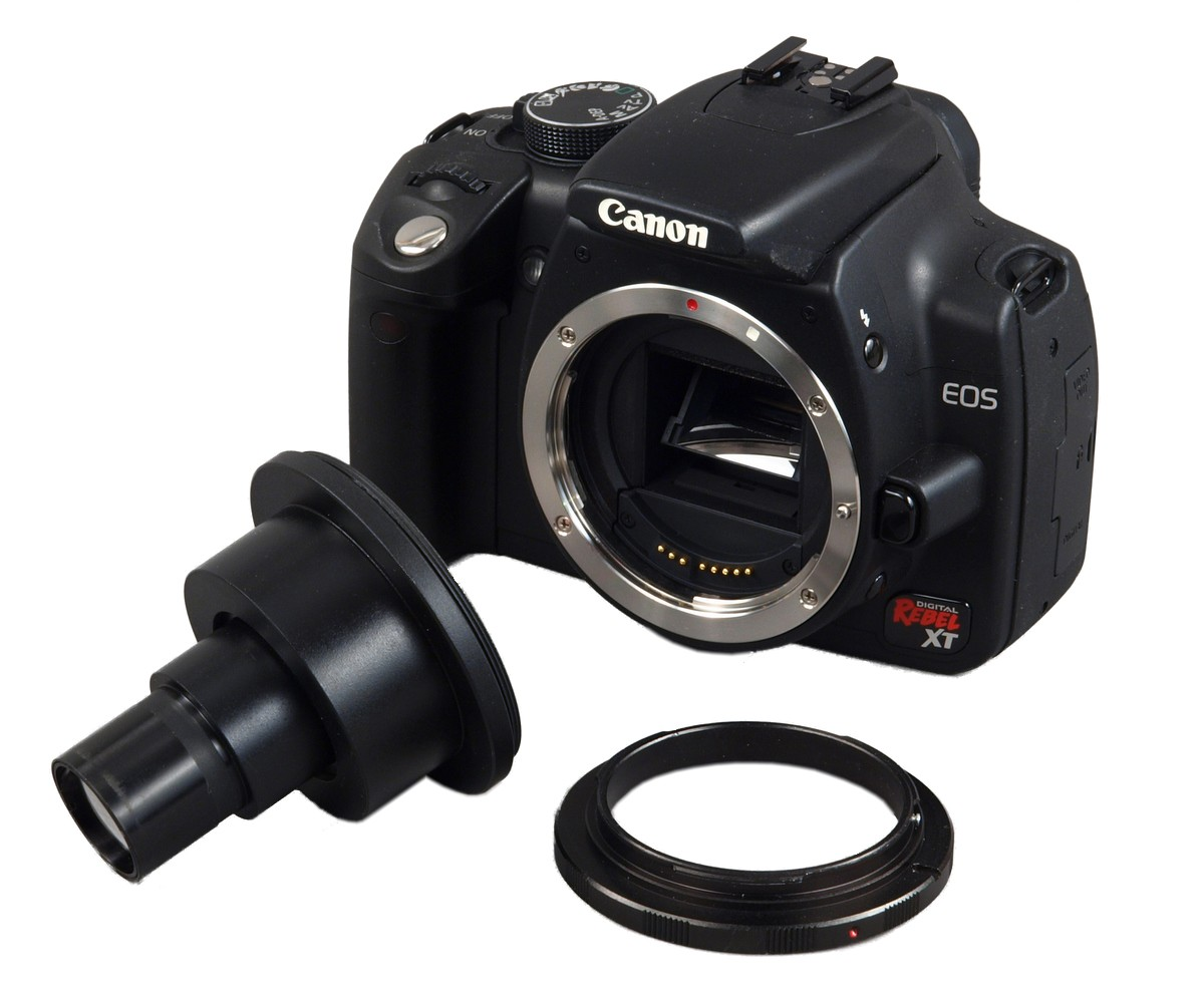 OMAX Microscope Adapter 4 Canon D-SLR w 2X Lens 23.2-30.5mm Adapter