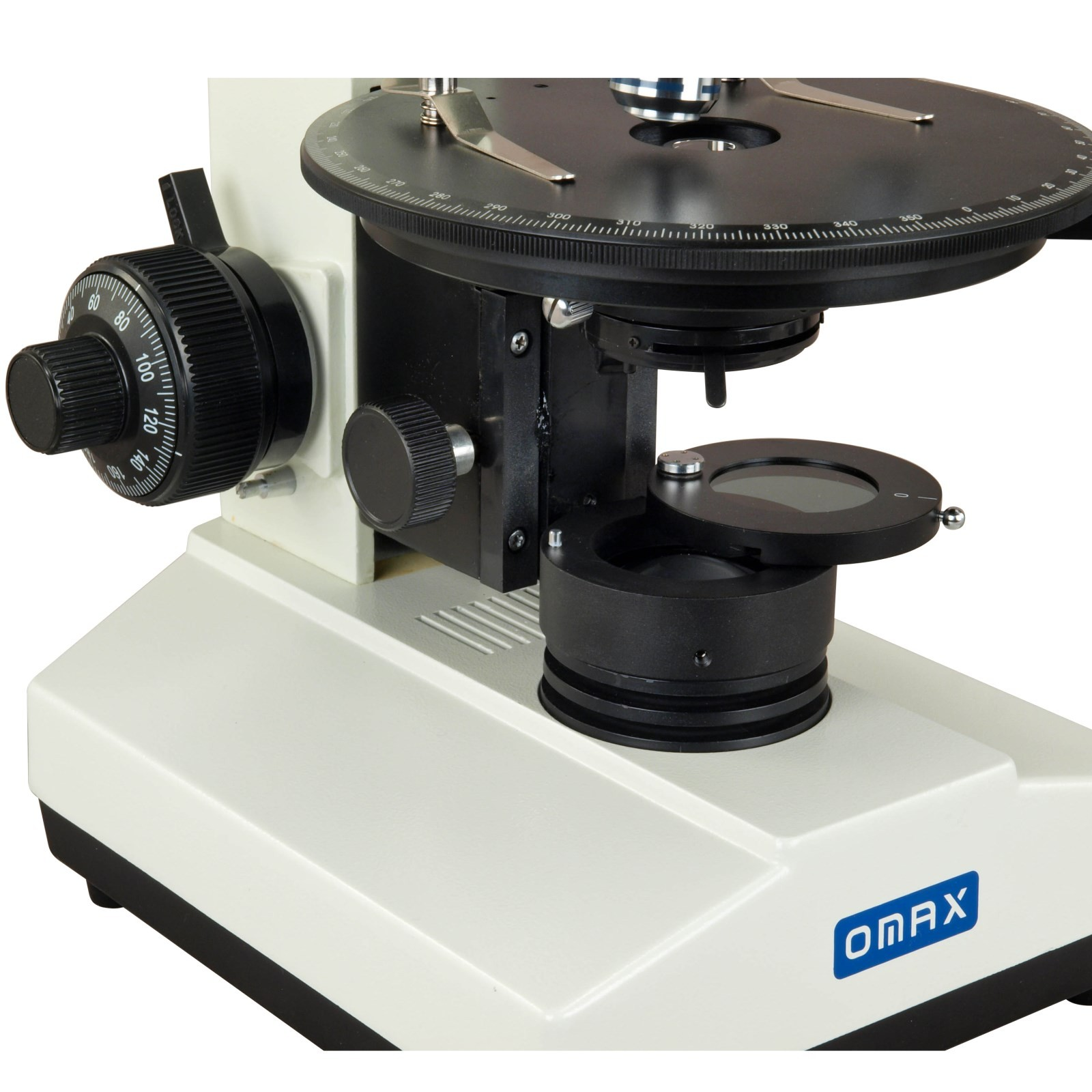OMAX 40X-1500X USB3 5MP Trinocular Polarizing Microscope with Bertrand Lens and Rotatable Stage